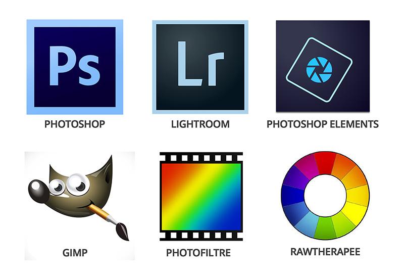 les logiciels de post traitement photo